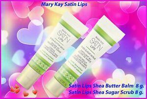Mary Kay Satin Lips Shea Butter Balm & Satin Lips Shea Sugar Scrub 2022exp