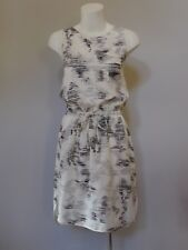 French Connection 12 M NWT RRP $130 cream grey summer Dress tags