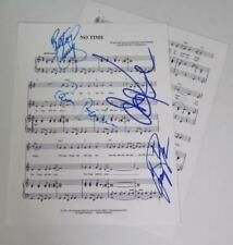 """THE GUESS WHO Signed Autograph """"No Time"""" Sheet Music x 4 Cummings Bachman"""