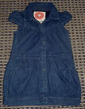 JACK AND MILLY GIRLS DENIM  DRESS SZ  2