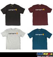 Carhartt K195 Men's Signature Logo T Shirt Heavyweight Jersy Cotton Short Sleeve