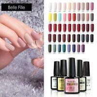 BELLE FILLE Matte Top Coat Gel Nails Soak Off Nail Varnish Manicure Gel Polish