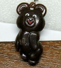 Moscow Olympics 1980 Misha mascot vintage keychain keyring Russian Soviet Rare