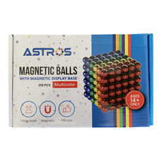 Astros 5mm multi-colored magnetic fidget balls with oval magnetic base