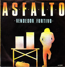 "ASFALTO - VENDEDOR FURTIVO + NADA QUE DECIR SINGLE 7"" VINYL PROMOTIONAL 1981 EX"