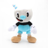"Mug Man 10"" Cup Head Plush Stuffed Animal Doll Cushion Cosplay Cuphead Toy"