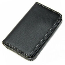 Luruxy Mens Pocket Leather Business Credit Card Name ID Card Holder Case Wallet