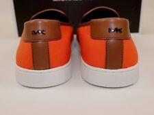 21bec2e66b62 NIB MICHAEL KORS Size 9.5 Men s Poppy Canvas Brown Leather EVAN Slip On  Sneaker