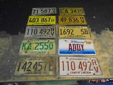 More details for genuine american usa illinois state number plates x 10 different! ideal man cave