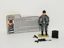 Vintage 1986 GI Joe  Lowlight Low-Light Action Figure with File Card