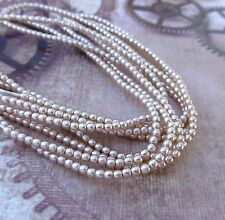 Strand of 150 Faux Pearl Beads Mini Glass Pearls Mauve 2mm PRL02-70425