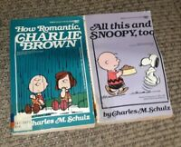 How Romantic Charlie Brown/All This And Snoopy Charles Schulz 2 BOOK LOT PEANUTS