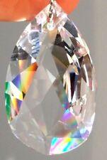 38x22mm Austria Swarovski #6105 Crystal Teardrop Prism  Feng Shui lot of 12 VTG