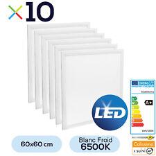 Lot de 10 Dalles LED 600x600 48W  Blanc Froid 6500K Haute Luminosité + Transfo
