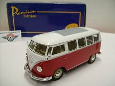 VW T1 Microbus, Rot/Weiß, 1962, Premium Edition (Welly) 1:24, OVP