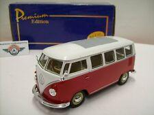 Vw t1 microbus, rouge/blanc, 1962, Premium Edition (Welly) 1:24, neuf dans sa boîte