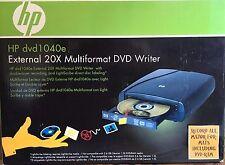 HP DVD1040e External DVD Writer / Burner Lightscribe - Multiformat
