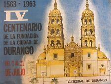 """Vintage Mexican Poster: """"1563-1963 IV Centenario de la Fundacion .. de Durango"""""""