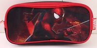 Marvel The Amazing Spider-Man 2 Kids Boys Red Black Sparklin Pencil Pen Case NWT
