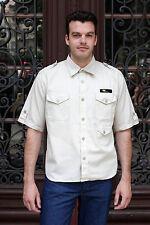 Alpi GDR Exclusive Uomo Safari Camicia Shirt Beige 70er DDR True Vintage 70´s men