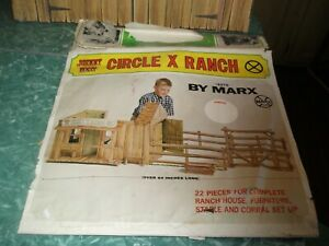 1966 MARX Johnny West Circle X Ranch #5275 Cardboard Play Ranch Set EXCELLENT
