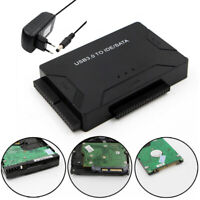 """USB 3.0 to IDE SATA Cable Adapter Connector for 2.5/3.5"""" Hard Disk Drive HDD SSD"""