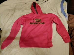 Mossy Oak Youth girl Sweatsuit top Size XL Pink With A Hoodie preowned