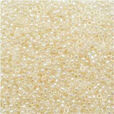 8/0 Ceylon Light. Ivory TOHO Round Glass Seed Beads 15 grams # 147