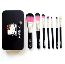 Black Makeup Brushes 7 Pcs hello kitty Brush Set Tool Professional Fashion