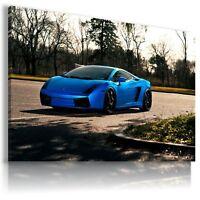 LAMBORGHINI GALLARDO BLUE Super Sports Car Wall Art Canvas Picture  AU520 MATAGA