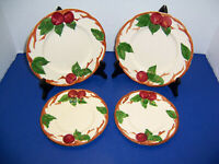 USA Franciscan Red Apple 2 Salad Plates & 2 Bread Butter Plates TV Backstamp