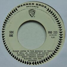 Johnny Sea: Day of Decision RARE WB promo 45 political SPOKEN WORD hear