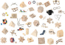 1x Mini-Knobelspiel - Geduldspiel - Knobelspiel - Mitgebsel - Holz - Metall