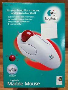 Logitech Trackman Marble Mouse - WINDOWS 95 98 Corded Trackball NEW FREE SHIPP
