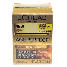 L'Oreal Paris New Age Perfect Cell Renewal Day Cream Moisturizer 0.5 oz SPF 15