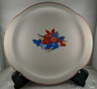 "Vintage Dishware Universal Cambridge Calico Fruit 11"" Cake Sandwich Plate 1940's"