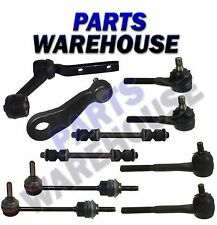 10 Piece Kit Inner Outer Tie Rod Ends Pitman & Idler Arms Front & Rear Sway B...