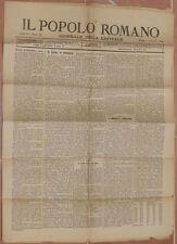 IL POPOLO ROMANO 5 SETTEMBRE 1882 BRESCIA CAMPELLO SUL CLITUNNO AREZZO ROMA ROME