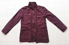 Lucky Brand NWD Women s Military Style Utility Jacket Maroon 100% Cotton size S