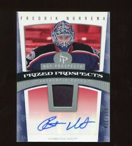 2006-07 HOT PROSPECTS FREDERIK NORRENA RC AUTO JERSEY ROOKIE SP /599 #109