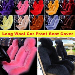 Genuine Australian Sheepskin Fur Long Wool Universal Truck Car Front Seat Covers