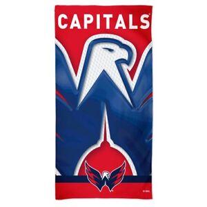 "WASHINGTON CAPITALS 30""X60"" SPECTRA BEACH TOWEL BRAND NEW WINCRAFT 👀🏒"
