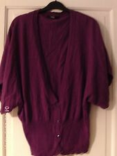PURPLE  SHORT SLEEVED CARDIGAN, SIZE 10