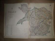Wales North East Cardigan carnarvon 1863 Dispatch AtlasMapE.WellerFramed 40 more