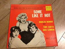 some like it hot Marylyn Monroe Sings BO from motion picture  33t united RARE