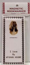"Afghan Hound Dog Magnetic Bookmarker, ""I Love My Afghan Hound"""