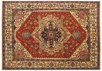 INDIA HAND KNOTTED HERIZ SERAPI PERSIAN ORIENTAL AREA RUG WOOL CARPET RUGS EDH