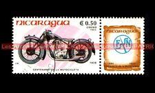 FN 500 M67C 1928 ( F.N. M67 C ) - NICARAGUA Moto Timbre Stamp