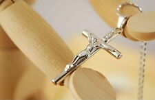Gesù Cristo Collana con Ciondolo Croce Crocifisso con Gesù sulla croce CR05