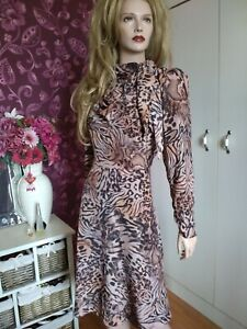 Julien Macdonald Leopard Print Dress Size 14